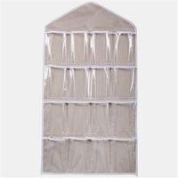 Wholesale bra rack hangers resale online - Pockets Clear Hanging Bag Socks Bra Underwear Rack Hanger Storage Organizer Jun27 Professional Factory price Drop Shipping