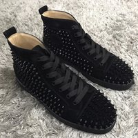 All'ingrosso Di In Sconti Vendita Black Suede Spikes Red Bottoms CxBQrdoEeW