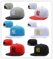 Wholesale Yellow Dance Top - Top Sale Baseball Cap NY Embroidery Letter Sun Hats Adjustable Snapback Hip Hop Dance Hat Summer Outdoor Men Women Visor free shipping