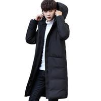 добавить долго оптовых-добавить новые куртки одежды бренда толстый держать Износ на улице длинные теплые мужчины вниз куртка высокого качества с капюшоном вниз зимнее пальто Мужчина