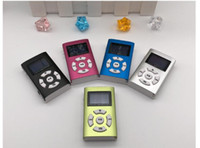 Wholesale mp3 player screen gray for sale - There are screen plug in MP3 aluminum shell book music MP3 player gift sports walkman