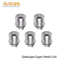 super spule großhandel-Geekvape Super Mesh Coil 0,2 Ohm Ersatzspulen für GeekVape Aegis Mini Kit Cerberus Subohm Tank 100% Original