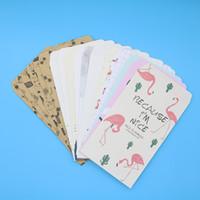 desenhos animados da chinchila venda por atacado-(19.8 * 11 cm) Animal Chinês Envelope Bonito Dos Desenhos Animados Flamingo Chinchilla Envelope Multicolor Criança Presente de Papelaria 6 pçs / pacote
