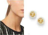 ingrosso orecchini d'oro dei branelli neri-Vendita Orecchini di perle perline Orecchini in oro 18 carati placcato per le donne Gioielli di alta qualità Orecchini di cristallo austriaco rosso / blu / nero / bianco / ambra