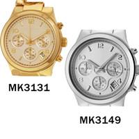 Wholesale golden chain watches - Runway Golden Chain Bracelet Chronograph Ladies Watch 3131 3149