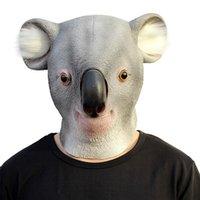 забавная животная маска для лица оптовых-Латекс Коала животных Маска анфас Хеллоуин костюм косплей маски необычные фестиваль смешные маски для партии