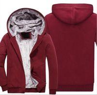 baseballjacken usa großhandel-S22-S30 USA GRÖSSE 2018 Männer Winter Herbst Hoodies Blank Muster Fleece Mantel Baseball Uniform Sportswear Jacke Wolle machen, um Designs zu bestellen