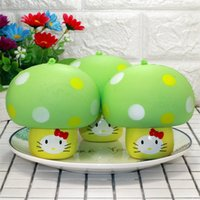 Wholesale mushroom sports online - Slow Rebound Squishy New Product Aroma Simulation Bread Squeeze Lovely Kitty Mushroom Squishies Phone Charm Toy Gift xr W