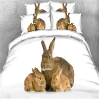Wholesale horse bedding sets full size online - d animal rabbit owl parrot wolf horse bedding set without filling twin full queen king super king size