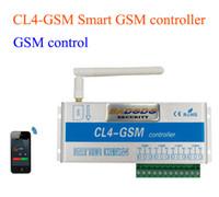 kontrolör güvenlik sistemleri toptan satış-Kablosuz GSM SMS akıllı Uzaktan AÇMA / KAPAMA anahtarı Denetleyicisi CL4-GSM Akıllı Anahtarı Güvenlik Sistemi için 4 Röle çıkışı ile