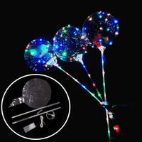 dekorasyon led sopa aydınlatma toptan satış-Yeni Işıltılı LED Balonlar Ile Sopa Dev Parlak Balon Işıklı Kadar Balon Çocuk Oyuncak Doğum Günü Partisi Düğün Süslemeleri