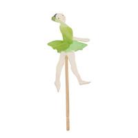 ingrosso torte di compleanno cartoni animati-24pcs Ballet Dancer girl Cupcake Topper Decorazione torta del fumetto Bambini Festa di compleanno baby shower Bomboniera cottura accessori