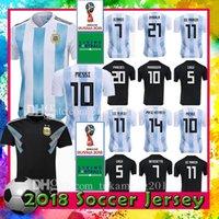 Wholesale argentina football shirt soccer - Men Women Argentina Hone soccer jersey 10 Messi 21 Dybala 19 Aguero 9 HIGUAIN 11 DI MARIA 6 FAZIO football uniforms 2018 WORLD CUP shirt