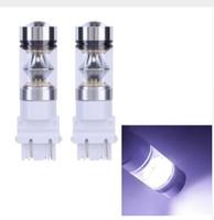 diodo emisor de luz led blanco al por mayor-3156/3157 100W 20LED CREE Auto Daytime Running Light DRL Auto Diodo emisor de luz Bombilla de conducción