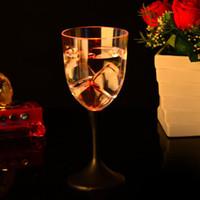 красная ночная стойка оптовых-Светодиодные Красный кубок вина однослойный круглый прозрачный кубок индукции воды красочные стоячие чашки для ночной клуб бар украшения 5 7jc ZZ