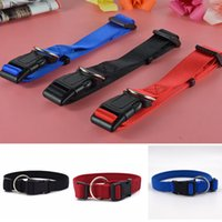 Wholesale accessories for dogs puppies online - 3 Colors Dog Collar Leash Adjustable Nylon Pure Color Puppy Collars Animal Pet Accessories For Pet Dogs AAA893