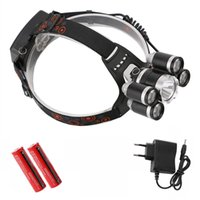 Wholesale bike light headlamp for sale - Rechargeable lm led Zoomable headlight ZOOM No zoom headlamp Hunting lamp fishing Bike light Car AC Charger
