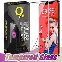 Wholesale full lcd screen phone for sale - Group buy Tempered Glass H Hardness Full Screen Cover Cell Phone Explosion proof LCD Screen Protector Film for iPhone XS MAX XR X Plus s