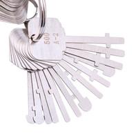 ingrosso vendita di chiavi di scheletro-KLOM 40 pezzi Set di grimaldelli Warded - Wafer Warded Locker qualificati - Best Warded Lock Skeleton Keys in vendita