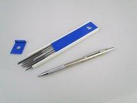 mekanik kalem ücretsiz gönderim toptan satış-Ücretsiz kargo kalemtıraş ile 2.0mm Kurşun Tutucu Mekanik Kurşunkalemler Çizim Eskiz Kalem Ile Okul Için 12 adet açar açar
