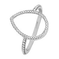 Wholesale love heart bracelet cheap - Cheap love heart rings 50 S925 silver fits for pandora style bracelet Teardrop Silhouette Ring 196253CZ H8ale