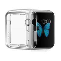 slim thin watch venda por atacado-38mm 42mm novo ultra fino fino transparente cristalino macio tpu de borracha de silicone capa protetora case para apple watch iwatch série 1 2 3