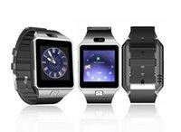 kamera kadranları toptan satış-DZ09 apple watch android smartwatch için Bluetooth akıllı izle ile kamera akıllı telefon için arama arama cevap Pasometre Pasometre