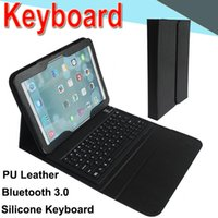 Wholesale waterproof keyboard case for sale - T580 Bluetooth Wireless Keyboard leather case for Samsung T580 retina Stand Holder Protector Protective Lined with Keyboard XPT