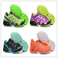 Wholesale women shoe size 41 - hot sale 2018 CASUAL Zapatillas Speedcross 3 ATHLETIC men and women Shoes new Walking Speed cross shoes size 36-41 free shpping