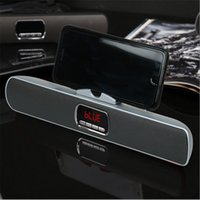 Wholesale tablet stand plastic card resale online - S605 Wireless Bluetooth Speaker Portable Card Subwoofer Phone Tablet Stand Double Speaker Mini Speaker