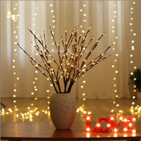 ingrosso arredamento per giardino-LED Willow Branch Lamp Floral Lights 20 Lampadine Home Christmas Party Garden Decor Regalo di Natale di Natale
