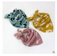 Wholesale Whale Accessories - Kids Face Towels Baby Bibs Fox Newborn Swan Girls Whale Bear Towels Cotton Toddler Scarf Boys Accessories Infant Towel DHL Free Shipping