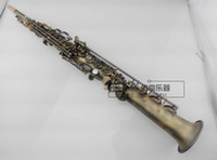 Wholesale straight soprano saxophone resale online - YANAGISAWA S Soprano Saxophone High Quality Antique Copper Brass Straight B flat Sax Musical