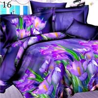 Wholesale king size fashion bedding for sale - 3D Pastoral Cheap Cotton Bedclothes Quilt duvet Cover Sets Double Bed Fashion Bedding Set King Size