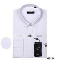 qualität beiläufige hemden großhandel-2018 neue Männer langärmelige hohe 100% Baumwollhemd gute Qualität Männer Casual 9ant Mode Shirt Social Brand Herrenhemd M bis 4XL