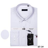 marka gömlek uzun erkek toptan satış-2018 yeni erkek uzun kollu yüksek% 100% pamuklu gömlek kaliteli erkek rahat 9ant moda gömlek sosyal marka erkek gömlek M 4XL