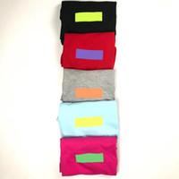 бесплатное мультфильм синий фильм оптовых-18ss BOX LOGO Fashion Tee New Trend Candy Colors Футболка с коротким рукавом Хлопок Tee Мужчины Женщины Лето Футболка высокого качества HFWPTX112