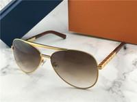 klasik güneş gözlüğü toptan satış-Yeni erkekler tasarımcı güneş gözlüğü tutum pilot güneş gözlüğü 0339 boy erkekler stil açık havada vintage klasik model UV400 lens ile kılıf