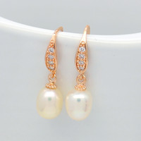 Wholesale hook freshwater pearl earring - Party surprise gift fashion natural freshwater pearl earrings copper ear hook personality charm jewelry wholesale