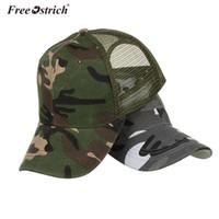 страусиная кепка оптовых-Free Ostrich Snow Camo Baseball Caps Men Summer Mesh Cap Tactical Camouflage Hat For Men Women Bone Masculino Dad Hat Caps N20