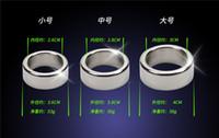 anel de dispositivo de castigo masculino de aço inoxidável venda por atacado-3 pçs / lote 26/28 / 30mm glande anéis de pênis de aço inoxidável suave anel peniano dispositivo de castidade masculino penis manga sex toys para o homem
