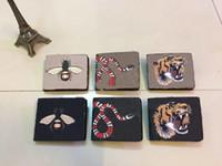 carteras para hombres al por mayor-2018 Nuevo diseñador billetera Tote de alta calidad de cuero de lujo hombres carteras cortas para mujeres hombres monedero bolsos de embrague con caja