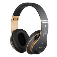 Wholesale best mic headset - Best over-ear Bluetooth headphone Super Bass Wireless sport headphones Noise Cancelling music with Mic headset For For PC phone