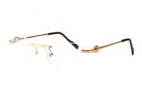 metall beine box großhandel-Freies Verschiffen-klassische Metalllegierungs-Goldsilber-Bein-randlose Glas-Büffel-Horn-Sonnenbrille gestaltet Retro- Sonnenbrille mit ursprünglichen Kästen