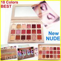 Wholesale best long lasting eyeshadow brands resale online - Beauty new nude eyeshadow palette makeup Matte Shimmer Eyeshadow Brand Colors eye shadow Best quality DHL