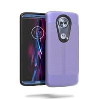 Wholesale amps phone resale online - Shockproof Litchi Pattern TPU PC Armor Phone Case For Samsung Glaxy J3 Emerge J3 Prime Amp Prime Express Prime Mission Back Cover