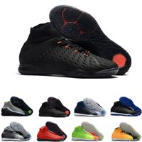 Wholesale ic packs online - Mens indoor soccer cleats Hypervenom Phantom III EA Sports IC soccer shoes soft ground football boots cheap Rising Fast Pack neymar