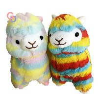 Wholesale soft stuffed animals for babies for sale - 20cm plush rainbow Alpaca Vicugna Pacos Plush Toy Japanese Soft Alpacasso Baby Stuffed Animal Alpaca toys for children