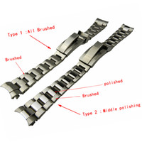 Wholesale 21mm strap - 21mm NEW High Quality Stainless steel Watch Bands strap Buckle Deployment Clasp FOR ROL bands ROL03