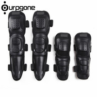 Wholesale Motorbike Pads - 4pcs  Set Adult Sports Motorcycle Motorbike Bike Racing Skating Elbow Knee Shin Armor Guard Protector Guards Protective Gear Pads